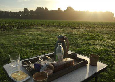 Ontbijt camping